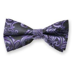Dark purple paisley bow tie $6.95