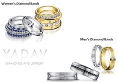 Our collection of expertly crefted #men's and #women's #wedding_bands includes hundreds of styles to choose from. http://www.diamondsonweb.com/wedding-and-anniversary-diamond-rings.mhtml