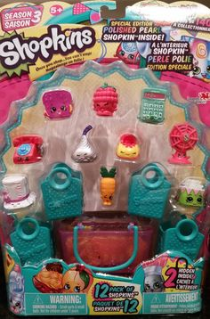 Shopkins Season 3 4 Super Rare Canadian Packages 4 VHTF 12 Packs | eBay