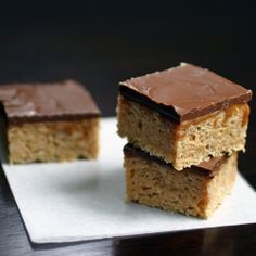 Whatchamacallit Bars - chocolate, peanut butter, caramel * Happy Father's Day for my hubby