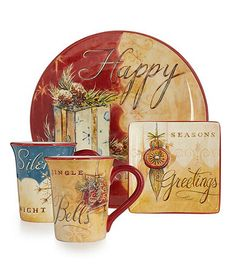 Home | Home for the Holidays | Dinnerware & Flatware | Dillards.com Christmas China, Christmas Dishes, Christmas Kitchen, Christmas Themes, Christmas Holidays, Christmas Crafts, Christmas Table Settings, Christmas Tablescapes, Winter Holidays