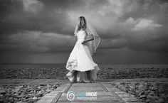 Wedding Photography with a moody sky. Fantastic location.