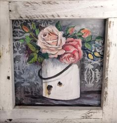 By Wilma Potgieter Girls With Flowers, Mixed Media, Rose, Painting, Home Decor, Art, Art Background, Pink, Decoration Home