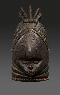 Sierra Leone MENDE HELMET MASK, Auktion 1103 Art of Africa, the Pacific and the Americas, Lot 152 #tribalmask #africanmask #mask #lempertz #afrika #african #sierraleone