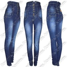 NEW #WOMENS LADIES HIGH WAISTED CORSET BACK SKINNY #FIT JEAN DENIM BLUE JEANS #SLIM   eBay #clothes #fashion #jeans #hot #sexy