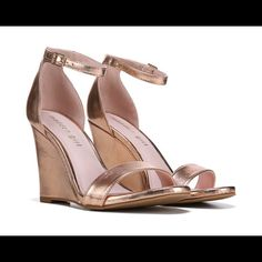 a508e39b660 Shop Women s Madden Girl Pink Gold size Heels at a discounted price at  Poshmark. Description  New rose gold wedge sandals in size Includes box.