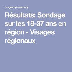Résultats: Sondage sur les 18-37 ans en région - Visages régionaux