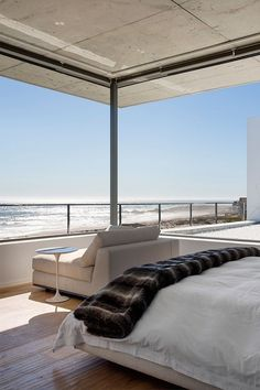 Summer style!! Modern contemporary Beachside bedroom!! LOOK at that view of Pear Bay!!
