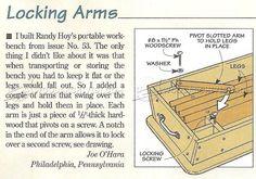 #977 Portable Workbench Plans - Workshop Solutions