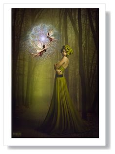 """""""Autumn Dance of the Fairies"""" by morag667 ❤ liked on Polyvore featuring art"""