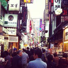 Myeongdong in Seoul, Korea.