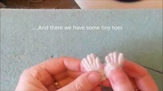 Basic techniques for needle felting tiny toes/feet/hands by Amanda Adebisi of Fit to be loved This quick 11 min tutorial is easy to follow step by step.