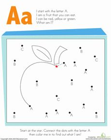 Alphabet Dot-to-Dot: A Worksheet