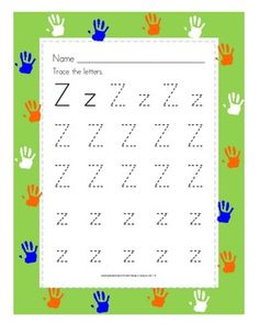 With templates from A to Z, students will be able to recognize and practice tracing letters without lines or arrows.