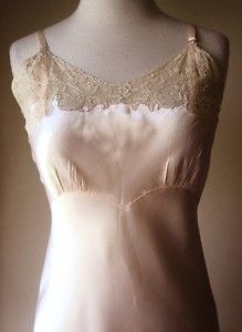 Vintage slip or nightgown with lace