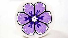 FREE TUTORIAL: Millefiori cane Purple Flower (polymer clay tutorial) (+playlist)