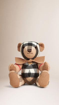 Camel Thomas bear in check cashmere from Burberry. Perfume, Weekend Wear, Camel, Burberry, Cashmere, Toys, Classic, Gifts, Animals