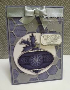 STAMPIN' UP! CHRISTMAS BAUBLE IN WISTERIA WONDER ... SHOWCASING THE WEEKLY DEALS