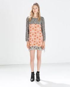 Vestidos Zara OI 2014 2015 flecos