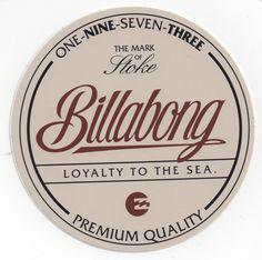 Billabong Mark of Stoke Sticker