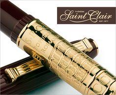 Collectible fountain pens from #omas #montegrappa #aurora