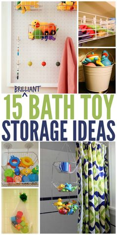 Tired of tripping over bath toys when you're in the shower? We've rounded up 15 smart bath toy storage solutions you can implement TODAY.