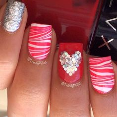 valentine by trendypolish #nail #nails #nailart