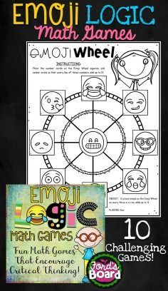 These 10 brain teaser games will engage students as they think critically and creatively! The games require students to analyze, contemplate, and reason – all skills they need for success across content areas. Students' minds will be stimulated and challenged as they play. All games have an emoji theme, which appeal to students and make playing fun and interesting!