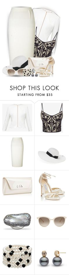 """White Skirts 2"" by sarahguo ❤ liked on Polyvore featuring Ted Baker, Alexander McQueen, Roland Mouret, Peter Grimm, Christian Louboutin and Chopard"