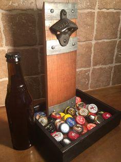 Hand Crafted Wine Barrel Stave Bottle Opener by FattbackkGarage