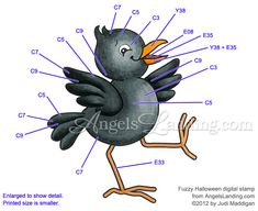 Copic Coloring Guide for Halloween Crow by Crafts - Cards and Paper Crafts at Splitcoaststampers