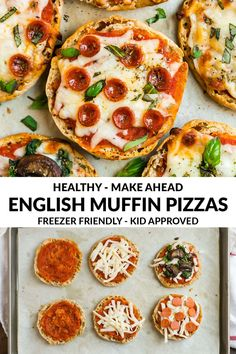 Healthy and fun to make with kids! Perfect for fast dinners, lunches, and healthy snacks. Tips for not soggy crust and to make ahead and freeze. Use any of your favorite toppings from veggies to pepperoni to cheese Healthy Dinners For Kids, Healthy Pizza Recipes, Easy Delicious Recipes, Kids Meals, Healthy Snacks, Cooking Recipes, Dinner Healthy, Salad Recipes, Pizza Snacks