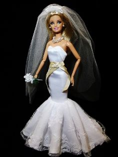 32 Best Clothes For Barbie Doll Images On Pinterest Bridal Gowns