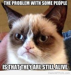 The problem with some people is that they are still alive.