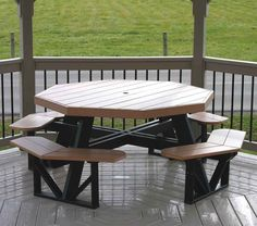Amish Poly Octagon Picnic Table