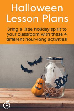 These 4 different one-hour activities will quickly bring some Halloween spirit to your classroom! Try just one or all four. There are arts & crafts activities, creative writing lessons, reading skill-builders, and more. (Grades K-2; 3-5; 3-6)