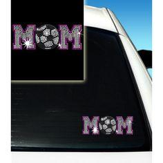 Soccer Mom Rhinestone Car Decal