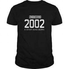 11 2002 November Star Was born T Shirt Hoodie Shirt VNeck Shirt Sweat Shirt Youth Tee for womens and Men