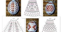 Christmas Crochet Patterns - Beautiful Crochet Patterns and Knitting Patterns Easter Egg Pattern, Crochet Birds, Christmas Crochet Patterns, Crochet Snowflakes, Crochet Flowers, Crochet Diagram, Crochet Motif, Hand Embroidery Videos, Crochet Decoration