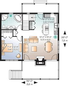 Plan 21857DR: Cute Vacation Home with Great Deck