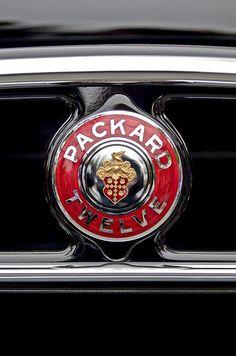 1933 Packard 1005 Twelve Dietrich Convertible Victoria Emblem  - Car photographs  by Jill Reger