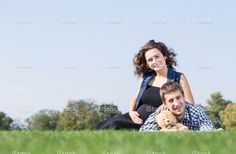 Young family in park. iStockphoto.  #istockphoto #family #love #happiness #家族 #가족 #أسرة Portfolio: http://www.istockphoto.com/gb/portfolio/SVPhilon