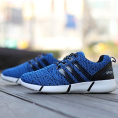 Casual Lace-Up and Stripe Design Athletic Shoes For Men #jewelry, #women, #men, #hats, #watches, #belts, #fashion
