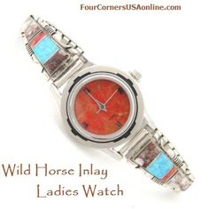 Women's Crazy Horse Inlay Sterling Watch