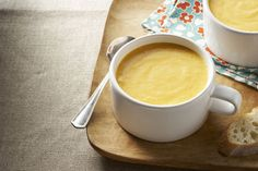 Even people with no strong feelings about parsnips strongly approve of this creamy Carrot & Parsnip Soup. It's a winner! Broccoli Soup Recipes, Cream Of Broccoli Soup, Healthy Soup Recipes, Cooking Recipes, What's Cooking, Parsnip Recipes, Kraft Recipes, Carrot And Parsnip Soup, Beer Cheese Soups