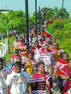 The Caribs...these are direct descendants of the first people of Trinidad, they were mostly displaced after the arrival of the Europeans in 1492.