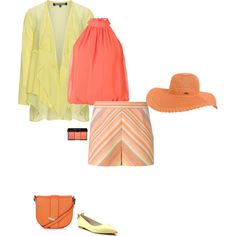 Warm spring's cadmium orange is just a lighter tone of a true bright orange... which a warm spring can totally wear. I styled this color with a bright yellow and coral pink which are on either side of the orange on the warm spring's color wheel.  You could also try wearing this orange wi