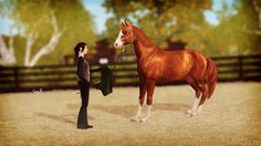 DHS Sarah // The Sims 3, horses, The sims 3 horse, Sims, Sims 3, chestnut horse, Natural horsemanship, Diamond Heart Stables, DHS, DH Stables,