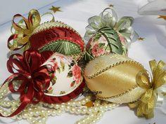Christmas ornament set Rose ornament Oval Christmas by Gydesi
