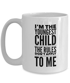 Funny Mug - Youngest Child Rules Don't Apply To Me 6- Mug Tea Cup - 11 OZ Coffee Mugs - 15 OZ Coffee Mug - Funny Inspirational Sarcasm Sarcastic Witty >>> This is an Amazon Associate's Pin. For more information, visit this Amazon Affiliate link.